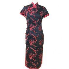 Tailor Made Plum Blossom Pattern Chinese Dress Qi Pao #cheongsam #qipao #dress #Chinesedress