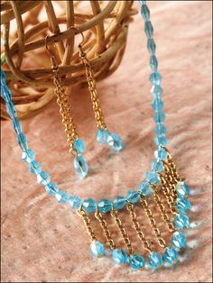 Beading - Jewelry Patterns - Sets Patterns - Facets & Chain Set