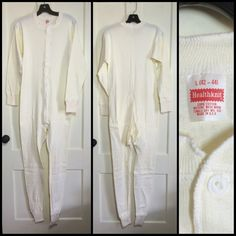 Deadstock 1960's long sleeve cotton Long Johns Union by sidvintage