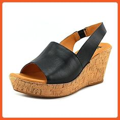 0348f1a727 Korks Linlin Women US 7 Black Wedge Sandal - Sandals for women (*Amazon  Partner-Link)
