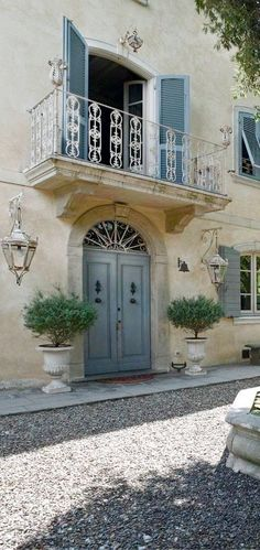 Peonies and Orange Blossoms: Building the French Farmhouse - a study of French shutters