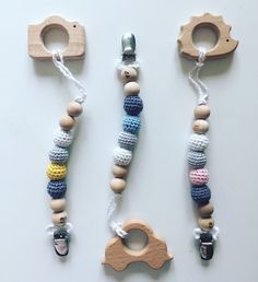A personal favorite from my Etsy shop https://www.etsy.com/listing/227253263/eco-friendly-baby-teething-pacifier-clip
