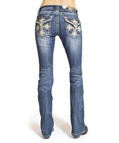 Loving this Light Blue Maltese-Pocket Bootcut Jeans on #zulily! #zulilyfinds
