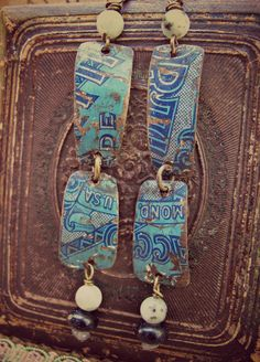 Tobacco and candy tin earrings by Gypsy Fish Journal