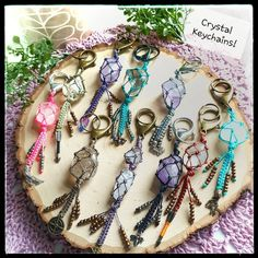 Crystal Keychain, Healing Crystal Jewelry, Beyond Words, Natural Crystals, Jewelry Making, Bracelets, Jewellery Making, Make Jewelry, Bracelet