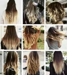 Tie dye hair styles for long hair <3