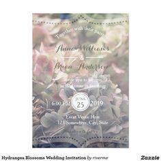 Hydrangea Blossoms Wedding Invitation