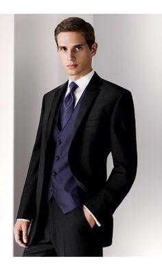 """The """"Manila"""" Black 2-Button Notch Calvin Klein Tuxedo is one of our best sellers! Visit our site for details on this tuxedo and more!"""