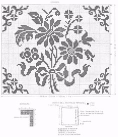 Filet Crochet Cushion and Chair Cover