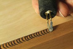 #10 of 12 Ways To Add Texture With Tools You Already Have WoodworkerZ.com