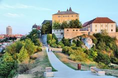 City in Central Transdanubia region. Townscape with castle. Europe photo by Tupungato. You may easily purchase this image as Guest without opening an account. Europe Photos, Hungary, Castle, Scene, Stock Photos, Mansions, House Styles, City, Minden