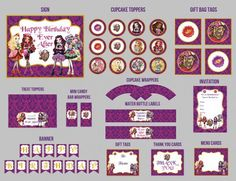 Ever After High Birthday Party Kit