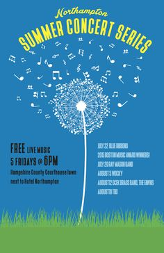 Northampton Summer Concert Series 2016 : Northampton Arts Council - another reason to visit Western #Massachusetts this summer! #travel