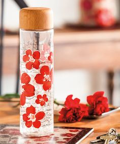 This is lovely. :: glass water bottle