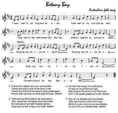 Beth's Music Notes: Botany Bay - Australia