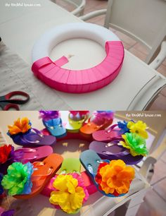 Flip Flop Wreath How To