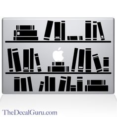 Bookshelf Library   Macbook Decals   The Decal Guru