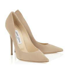 Nude Suede Pointy Toe Pumps | Anouk | 247 Collection | JIMMY CHOO