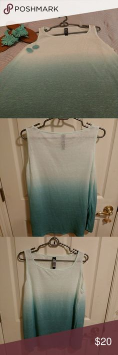 Tank top Oh so pretty turquoise ombre tank top.  Lightweight material. Gently worn.  Perfect over a pair of white capris or leggings.  21 1/2 inches from armpit to armpit. 27 inches in length. Marla Wynne Tops Tank Tops