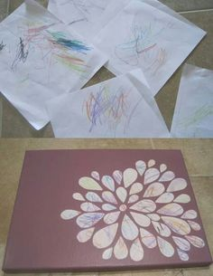 Turning toddler scribbles into art :) cute!