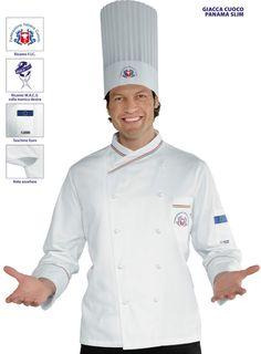 Giacca Federazione italiana cuochi Chef F.I.C. Isacco modello slim cuoco cucina