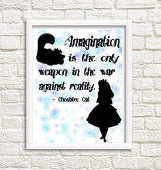 Cheshire Cat quote from Alice in Wonderland di FancyCraftIT su Etsy