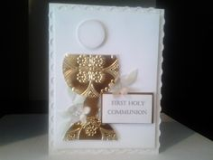 First Communion Card First Communion Cards, Holy Communion Invitations, First Holy Communion, Confirmation Cards, Baptism Cards, Scripture Cards, Kids Cards, Anniversary Cards, Greeting Cards Handmade