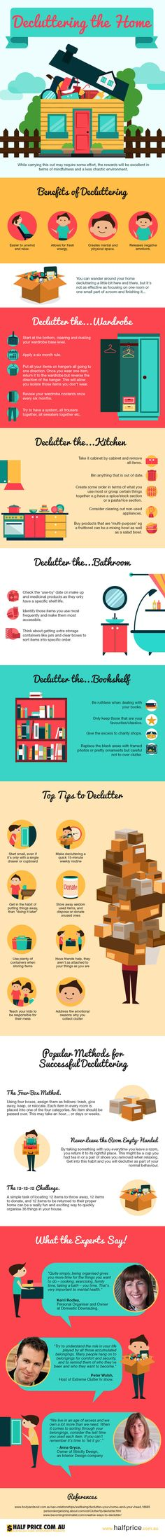 Infographic: Decluttering The Home