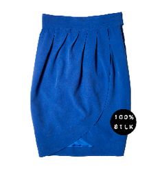 Tulip Skirt made from washed silk  Ethically made in London