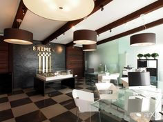 офис продаж недвижимости: интерьер, офис, администрация, современный, модернизм, 50 - 80 м2, торговый зал #interiordesign #office #administration #modern #50_80m2 #salesroom arXip.com