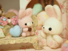 Needle Felted Bunnies