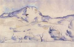 Mont Sainte-Victoire - Paul Cezanne, watercolor The Art of Color in Watercolor http://paintwatercolorcreate.blogspot.com/2013/04/the-art-of-color-in-watercolor.html