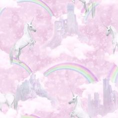 Phone cute backgrounds wallpaper for girls pink kids room paint Girls Bedroom Wallpaper, Unicornios Wallpaper, Glitter Wallpaper, Pink Unicorn Wallpaper, Rainbow Wallpaper, Cute Backgrounds, Cute Wallpapers, Unicorn And Fairies, Diy