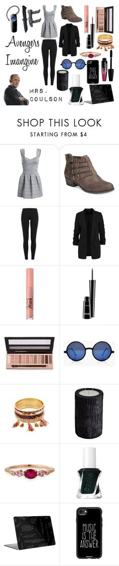 """""""Avengers Imagine"""" by nerdyform ❤ liked on Polyvore featuring American Rag Cie, Polo Ralph Lauren, Too Faced Cosmetics, MAC Cosmetics, L.A. Girl, Boohoo, Vascolari, Rivière, Essie and Casetify"""
