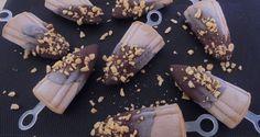 Παγωτό μπανάνα-φιστικοβούτυρο σε ξυλάκι
