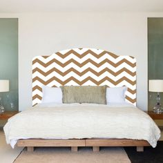 Chevron Stripe Wall Decal Headboard Wall Decal by PrimeDecal