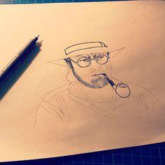 Master #luciodalla #dalla #illustration #music #gaeimago #workinprogress #art #b&w #inking #instadaily #illustration #art #graphicart #graphicdesign #retro #retrodesign #retrographic #design #italy #italydesign #gaeimago #inking