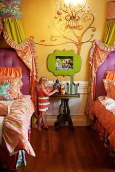 I love the colors and the design.  Would make a great little girls room. by wilda