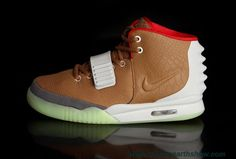 New Men Shoes Brown Red Nike Air Yeezy II
