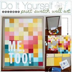 """Do It Yourself Paint Swatch Art "" by xoxo-tipgirls on Polyvore"