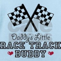 a cute checkered flag on daddys little race track buddy tees racing t shirts