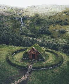 Stay in this Turf house in Iceland Credit: Beautiful World, Beautiful Places, Trees Beautiful, Garden Cottage, Kirchen, Abandoned Places, The Places Youll Go, Scenery, Around The Worlds