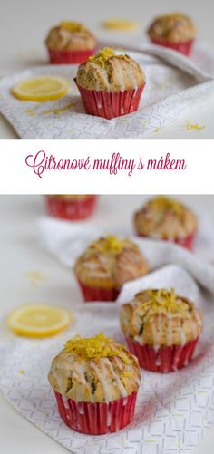 I love this Lemon Poppy Seed Muffins recipe, where a major dose of butter is replaced by greek yogurt thanks to which they are delicious but healthier too. My Recipes, Baking Recipes, Lemon Poppyseed Muffins, Greek Yoghurt, Vanilla Essence, Muffin Cups, Melted Butter, Baking Soda, Poppies