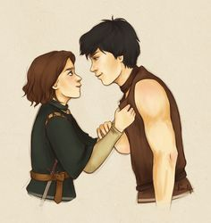 The wolf and the bull by ~kimpertinent on deviantART (so shippy!) #asoiaf #arya #gendry