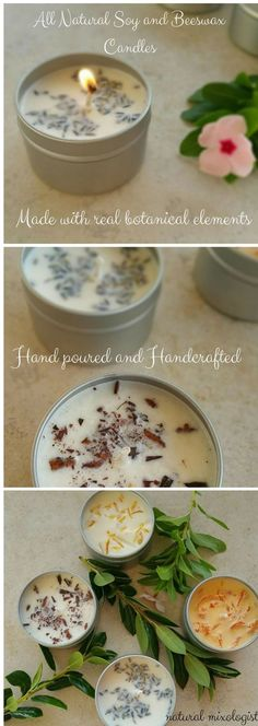 Diy Candles Ideas : Aromatherapy Candles Soy and Beeswax Candles