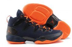 New 2016 2014 Air Jordan 28 Dark Blue Orange Shoes Features Whole Foot Zoom  Sneaker For Men For Sale,Nike Air Jordan Mens