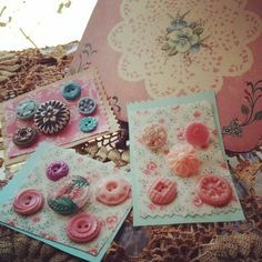 Lovely Vintage Buttons ~