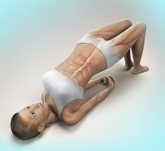 The yoga supported bridge pose may help you relieve back pain and start healing the problem. Learn how it might help. Back Pain Exercises, Thigh Exercises, Yoga Fitness, Health Fitness, Latest Health News, Oil For Hair Loss, Professor, Yoga For Back Pain, Bridge Pose