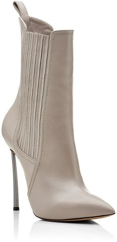 Casadei White Blade Chelsea Boot