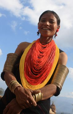 "India | ""Khiamniungam lady"".  Hornbill Festival 